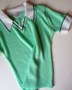 This makes me want to go on a bike ride. Minty Fresh Sixties Short Sleeved Sweater in by BarbeeVintage, $19.00