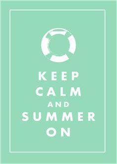 keep calm summer aqua 5x7  (on my blog)