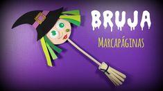Bruja marcapáginas de goma eva para Halloween - http://www.manualidadeson.com/bruja-marcapaginas-goma-eva-halloween.html