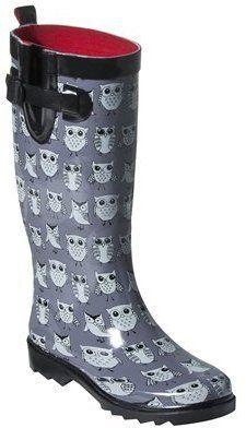 ShopStyle: Womens Owl Rain Boots - Grey