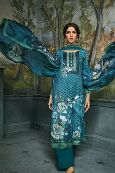 Pashmina Salwar Suit Shop Online in USA🇱🇷📲 www.pinkphulkari.com Suit Shop, Salwar Suits, Cover Up, Usa, Blue, Shopping, Dresses, Fashion, Vestidos