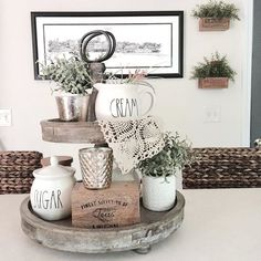 I think it's time to give my favorite farmhouse tray a fall makeover!  Amiright?! This tiered tray always makes me #farmhousehappy you can share yours with myself @myfarmhousefaded  @littlebrownnest  @paper.whites.interiors  @nellyfriedel  @jellypartyof5 and  @pleasepaintme  Tag is by tonight for a chance to be featured tomorrow! Would @thelittlewhitefarmhouse or @thebelmontranch like to share?  #decordailydose #niftynest #cottageandfarm #fromrust2roses #thursdaytrays #wednesdaywalldecor…