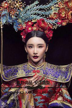 Cẩn quý thái phi Chinese Traditional Costume, Traditional Fashion, Traditional Dresses, Oriental Fashion, Asian Fashion, Chinese Fashion, Geisha, Costume Ethnique, Hanfu