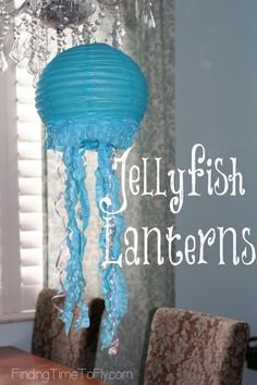 How To Make Jellyfish Lanterns - Finding Time To Fly Jellyfish Facts, Jellyfish Light, Jellyfish Tank, Jellyfish Drawing, Jellyfish Aquarium, Jellyfish Painting, Jellyfish Tattoo, Jellyfish Quotes, Watercolor Jellyfish