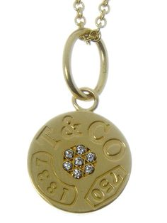 #Tiffany & Co. 1837 #Diamond Circle Pendant in 18kt Gold! #chipawn #chicagopawners