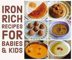 Iron Rich Recipes for Babies & Kids