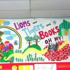 wizard of oz classroom theme | Wizard of Oz Mural for Classroom Library