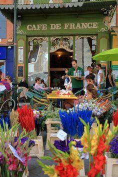 Café de France à l'Isle sur la Sorgue dans le #Luberon