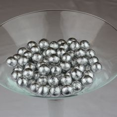 Silver Solid Milk Chocolate Balls | The Last Detail