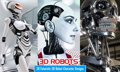 28 Best Futuristic and Glamorous 3D Robot Character Designs for your inspiration. Read full article: http://webneel.com/28-best-3d-robot-character-designs-your-inspiration-futuristic-and-glamour-robots | more http://webneel.com/3d-characters | Follow us www.pinterest.com/webneel
