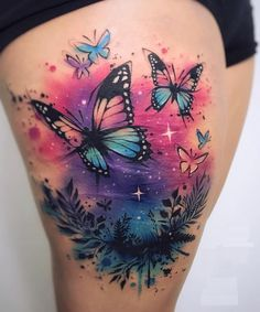 Best representation descriptions: Butterfly Thigh Tattoo Designs Related searches: Butterfly Tattoo Designs,Butterfly and Flower Tattoos,Sm. Girly Tattoos, Pretty Tattoos, Foot Tattoos, Cute Tattoos, Beautiful Tattoos, Body Art Tattoos, Small Tattoos, Sleeve Tattoos, Tattoos For Guys