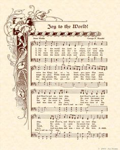 Joy to the world! He rules the world with truth and grace! ... the glories of His righteousness and wonders of His love!