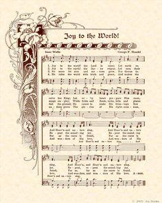 Joy to the world! My favorite Christmas hymn! Christmas Carol, All Things Christmas, Vintage Christmas, Christmas Holidays, Christmas Crafts, Christmas Decorations, White Christmas, Christmas Songs Lyrics, Christmas Sheet Music