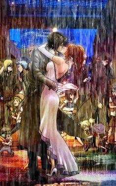 DeviantArt: More Artists Like Ulquiorra and Orihime 10 by nonoye Orihime Bleach, Ulquiorra And Orihime, Kuchiki Rukia, Bleach Manga, Ichimaru Gin, Bleach Fanart, Kissing In The Rain, Animes Wallpapers, Yandere