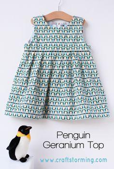 Penguin dress, stofje van Kokka verkrijgbaar bij www.jaan.nu