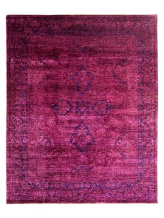 Vintage Hand-Knotted Overdyed Rug