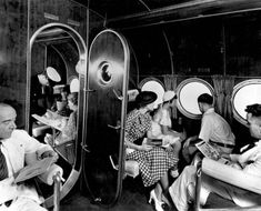 Interior view of Sikorsky S-40, Miami, Florida. There are none of these left and the style and luxury of Pan Am's early flying boats has never been equaled.