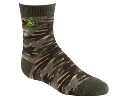 John Deere Boys Camo Crew Socks - - Product Description: Flat knit Soft, absorbent cotton for comfort Matching heel and toe John Deere logo at ankle Product Features: Boys size: 9 throu John Deere Kids, Boys Socks, Camo Fashion, Camo Outfits, Clothing Deals, Kids Hats, Crew Socks, Shoes Online, Camouflage Clothing