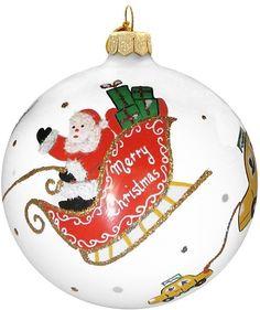 Michael Storrings for Landmark Creations Santa NYC Sleigh Taxi Ornament