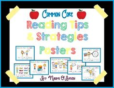 This cute and educational set of posters was created to help teachers teach these important reading tips and strategies to their K, 1st, and 2nd grade students. These posters will be a great reference to use at your small group center, on a bulletin board, or to post near your classroom library.Teachers should refer to these posters often when modeling good reading to show their students which reading tip/strategy they are using.