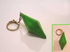 Plumbob Keyring    earrings?
