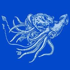 """Squid vs. Hyena"" by Ames Bros."
