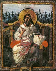 Evangelario de la Coronación. Imagen de San Juan Evangelista. En torno al 795…