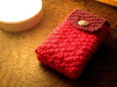 Knitted tarot bag - Little Red Tarot