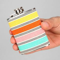 Fabric Wrapped Flask.