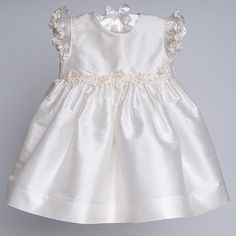 Baby Girl Silk Christening Dress - Leila Christening & Baptism Collection