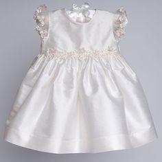 Baby Girl Silk Christening Dress - Leila Christening & Baptism Collection