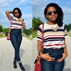 #fall #fashion #look #style #winter #stripes #classic #minimal