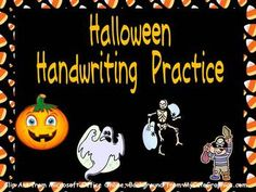 FREE Halloween Handwriting Practice!!!