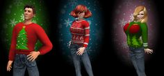 Looking for a last-minute Christmas present? Hurry to Curio Obscura for our Hideous Christmas Sweaters! These sweaters are available in nine different styles, each one more tacky than the last. These sweaters were an exclusive, one-time special for Christmas 2012 and are no longer available. From Curio Obscura in Second Life. #secondlife