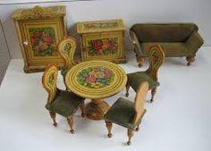 Image result for images of vintage dolls house furniture