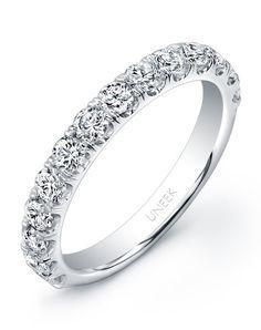 14k White Gold Women's Wedding Band   Style UWB03 by Uneek    http://trib.al/zT3W1CE