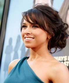 Classy and Messy up hairstyle with sweeping Fringe.