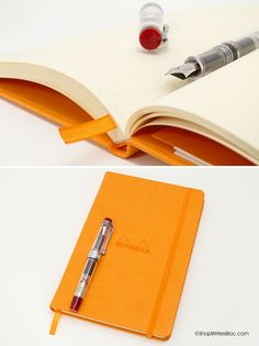 WANT: Rhodia Webnotebook Medium, Orange - Dot Grid