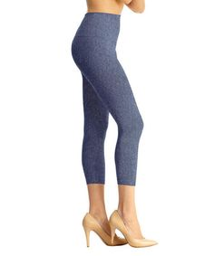 9634ba1442 SlimMe by MeMoi Heather Denim Blue High-Waist Shaper Leggings