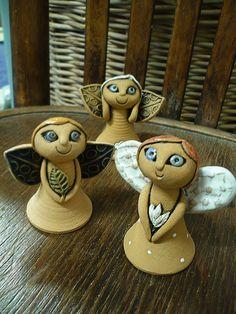 andělíčci z keramiky