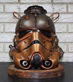 Steampunk stormtrooper helmet.