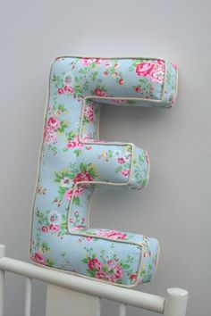 Alphabetty Letter Cushions Pillows Cath Kidston by Fabric Crafts, Sewing Crafts, Sewing Projects, Diy Crafts, Letter Cushion, Cushion Pillow, Cath Kidston, Sewing Patterns, Shabby Chic
