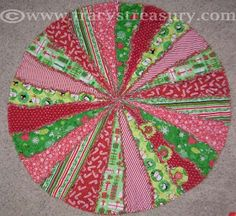 Tracy's Treasury: Rag Quilted Christmas Tree Skirt Sewing Tutorial