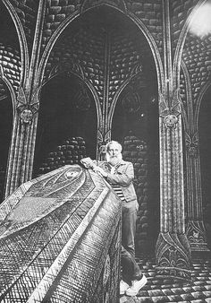 Edward Gorey Dracula set on Broadway from 1977. I was luck enough to see this production in NYC when I was 16. Blown away!