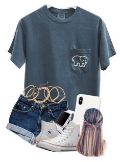 """Untitled #42"" by volleyball011 ❤ liked on Polyvore featuring Kendra Scott, Mudd, Apple and Converse>>Not usually something I would wear but hey"
