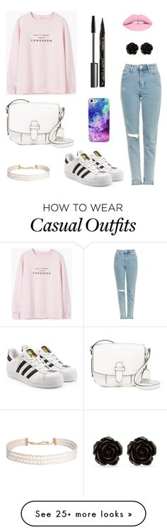 """Casual-cute outfit"" by secret-girl02 on Polyvore featuring MANGO, Topshop, adidas Originals, MICHAEL Michael Kors, Humble Chic, Smith & Cult, MAC Cosmetics and Erica Lyons"