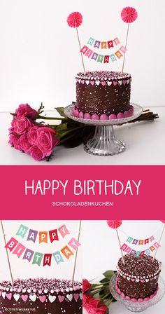 HAPPY BIRTHDAY - Schokoladenkuchen