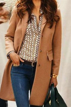 Stylish Turn-Down Collar Long Sleeve Pure Color Mid Length Coat For Women Coats | RoseGal.com Mobile