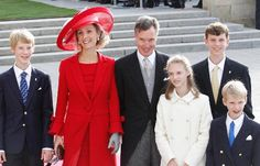 Luxembourg-All Things Grand Ducal: Members of the Luxembourg Royal Family l-r Prince Leopold, Princess Sibilla, Prince Guillaume (brother of Grand Duke Henri) Princess Charlotte, Prince Paul-Louis and Prince Jean