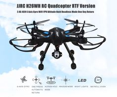 Lcyyo JJRC 6 Axis Gyro Drone WiFi FPV Headless Altitude Hold Mode RC Quadcopters RTF with HD Camera LED Lights 360 Degree Rollover for Kids Black * You can find out more details at the link of the image. Professional Drone, Professional Gifts, Rc Drone, Drones, Camera Drone, Box Camera, Rc Helicopter, Remote Control Toys, Wifi